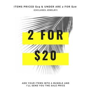 Stock up and SAVE // 2 for $20